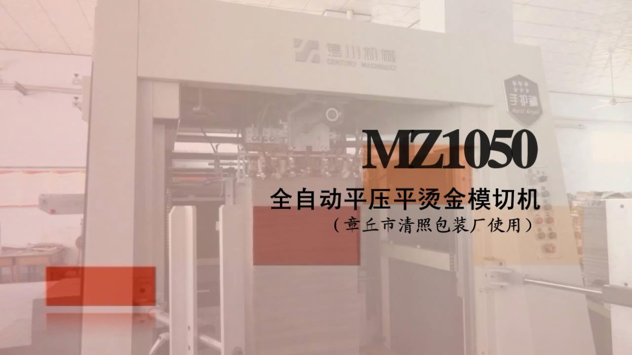 全自动平压平烫金机MZ1050J视频
